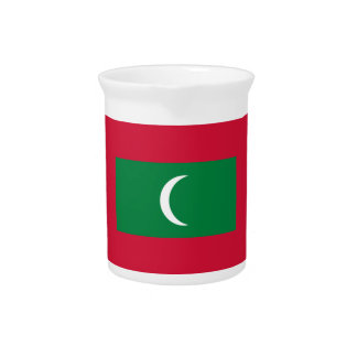 Low Cost! Maldives Flag Pitcher