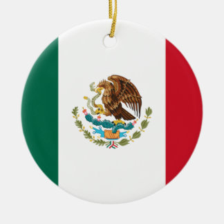 Low Cost! Mexico Flag Ceramic Ornament