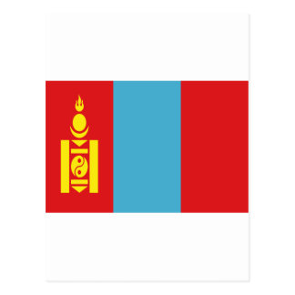 Low Cost! Mongolia Flag Postcard