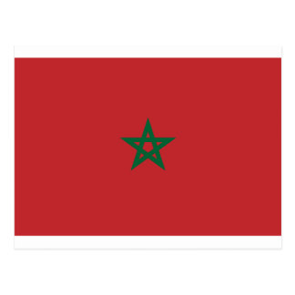 Low Cost! Morocco Flag Postcard