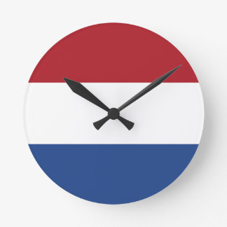 Low Cost! Netherlands Flag Round Clock