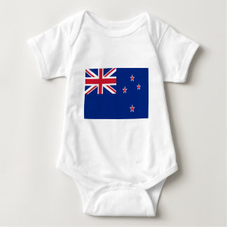 Low Cost! New Zealand Flag Baby Bodysuit