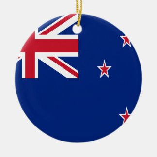 Low Cost! New Zealand Flag Ceramic Ornament