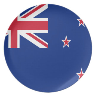 Low Cost! New Zealand Flag Dinner Plate