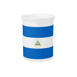 Low Cost! Nicaragua Flag Pitcher
