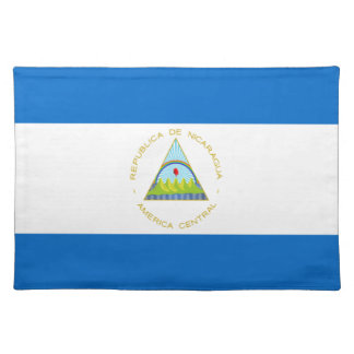 Low Cost! Nicaragua Flag Placemat