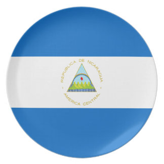 Low Cost! Nicaragua Flag Plate