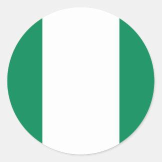 Low Cost! Nigeria Flag Classic Round Sticker