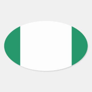 Low Cost! Nigeria Flag Oval Sticker