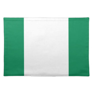 Low Cost! Nigeria Flag Placemat