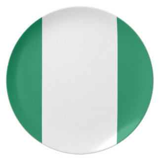 Low Cost! Nigeria Flag Plate