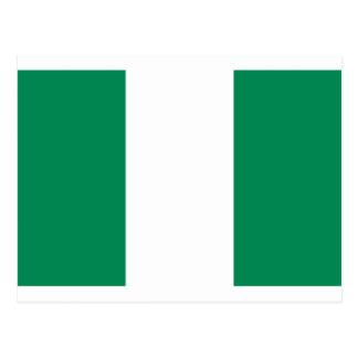 Low Cost! Nigeria Flag Postcard