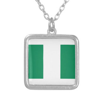 Low Cost! Nigeria Flag Silver Plated Necklace