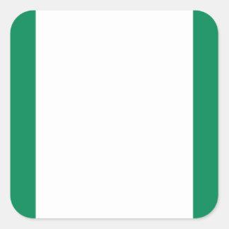 Low Cost! Nigeria Flag Square Sticker