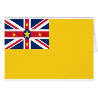 Low Cost! Niue Flag Card