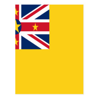 Low Cost! Niue Flag Postcard