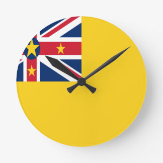 Low Cost! Niue Flag Round Clock