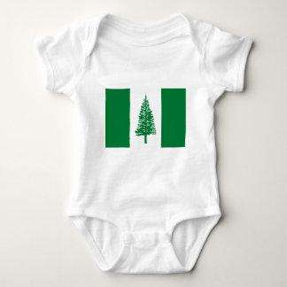 Low Cost! Norfolk Island Flag Baby Bodysuit