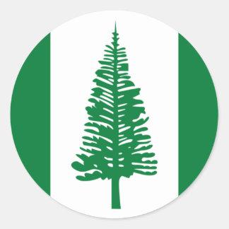 Low Cost! Norfolk Island Flag Classic Round Sticker