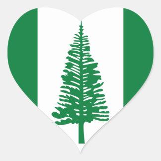 Low Cost! Norfolk Island Flag Heart Sticker