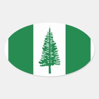 Low Cost! Norfolk Island Flag Oval Sticker