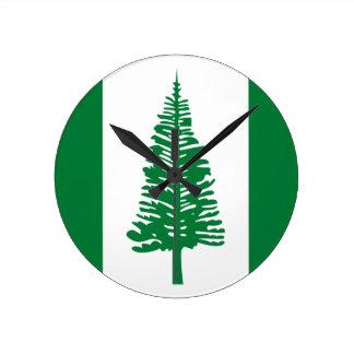 Low Cost! Norfolk Island Flag Round Clock