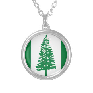 Low Cost! Norfolk Island Flag Silver Plated Necklace