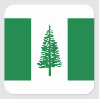 Low Cost! Norfolk Island Flag Square Sticker