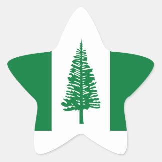 Low Cost! Norfolk Island Flag Star Sticker