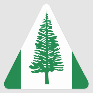 Low Cost! Norfolk Island Flag Triangle Sticker