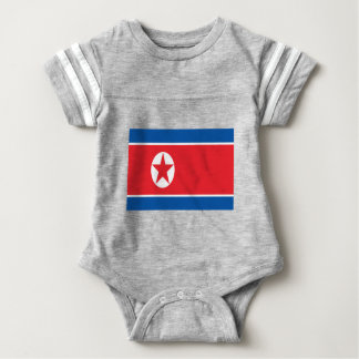 Low Cost! North Korea Flag Baby Bodysuit