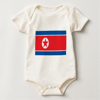 Low Cost! North Korea Flag Baby Bodysuit