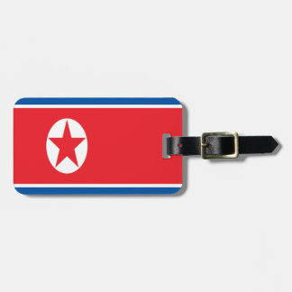 Low Cost! North Korea Flag Luggage Tag