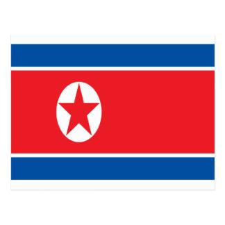 Low Cost! North Korea Flag Postcard
