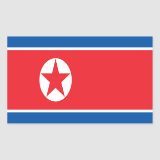 Low Cost! North Korea Flag Sticker