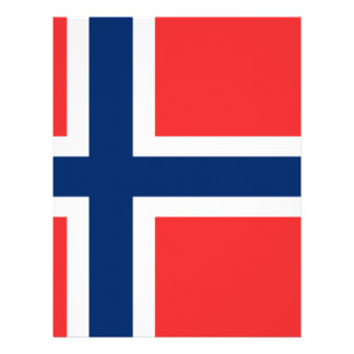 Low Cost! Norway Flag Letterhead