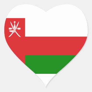 Low Cost! Oman Flag Heart Sticker