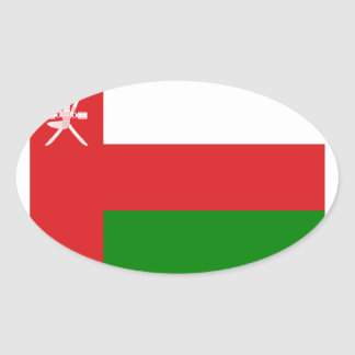 Low Cost! Oman Flag Oval Sticker