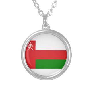 Low Cost! Oman Flag Silver Plated Necklace