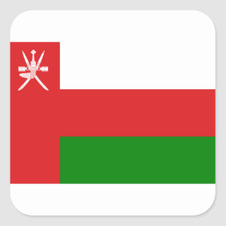 Low Cost! Oman Flag Square Sticker