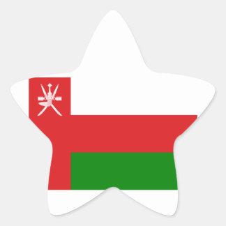Low Cost! Oman Flag Star Sticker