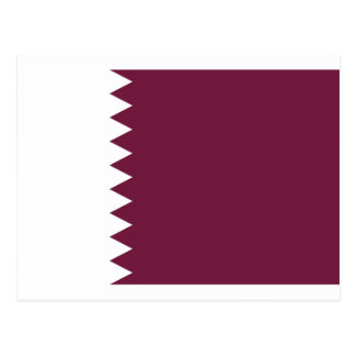 Low Cost! Qatar Flag Postcard