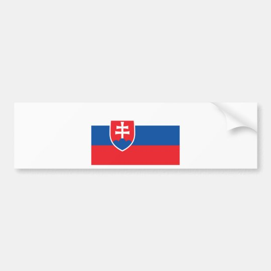Low Cost! Slovakia Flag Bumper Sticker