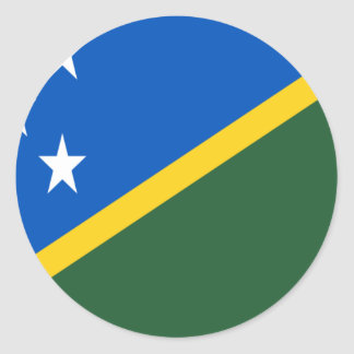 Low Cost! Solomon Islands Flag Classic Round Sticker