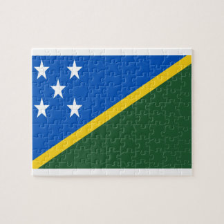 Low Cost! Solomon Islands Flag Jigsaw Puzzle