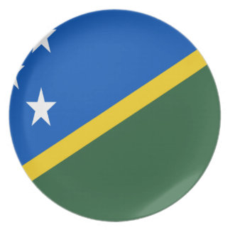 Low Cost! Solomon Islands Flag Plate