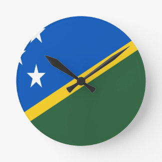 Low Cost! Solomon Islands Flag Round Clock
