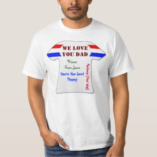 Low Cost We Love You Dad Fathers Day T Shirt 2