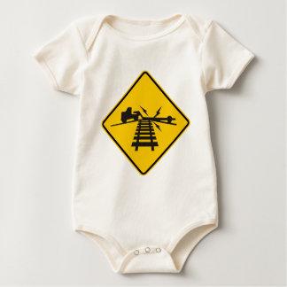 Low Crossing Highway Sign Baby Bodysuit