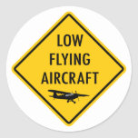 Low Flying Aircraft - Traffic Sign Stickers